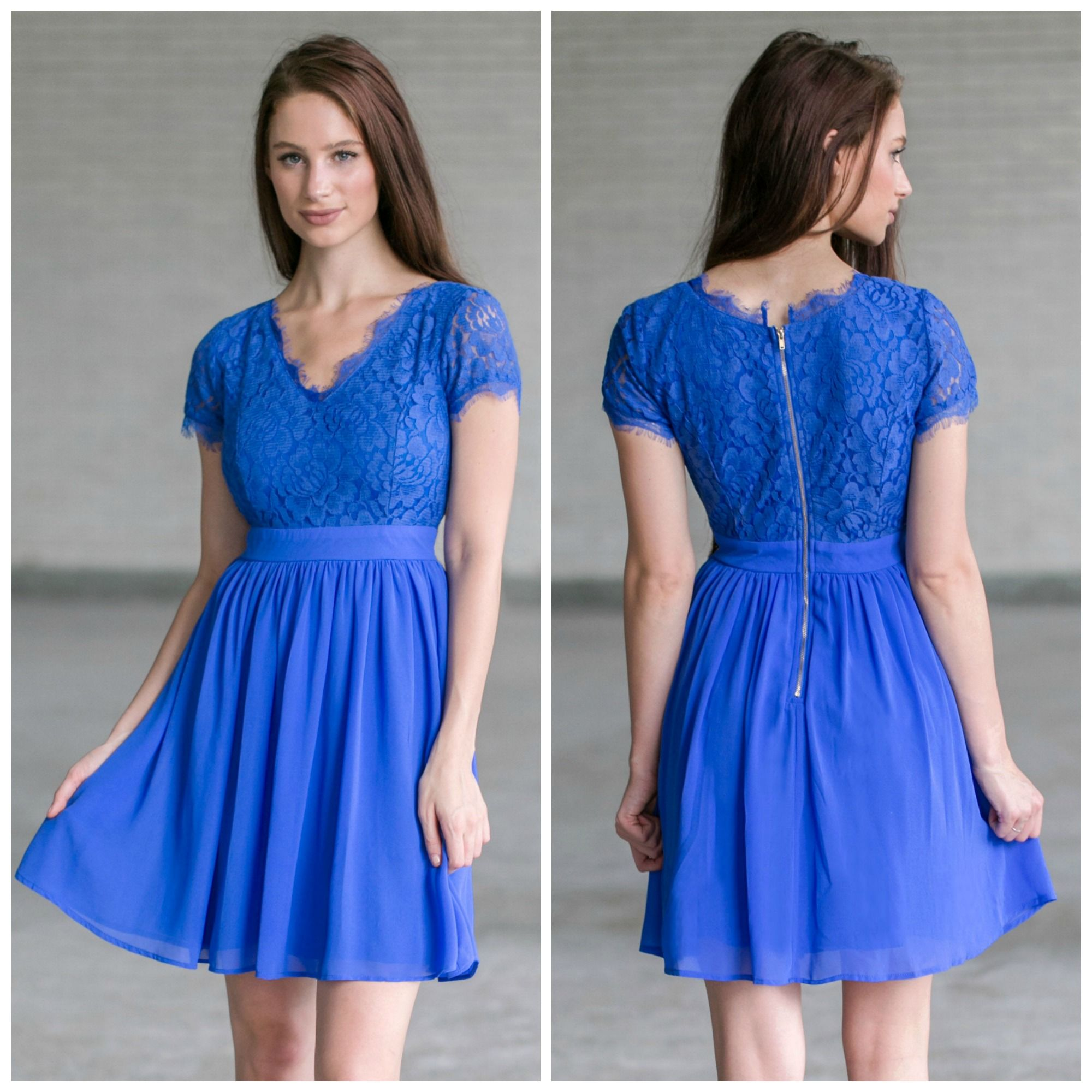 We love the bright blue color of this lace dress! http://ss1.us/a ...