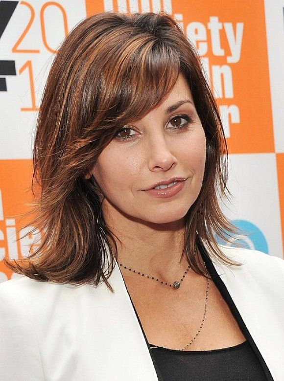 Medium Length Layered Hairstyles With Side Swept Bangs For Thick - Hairstyles for dark brown thick hair
