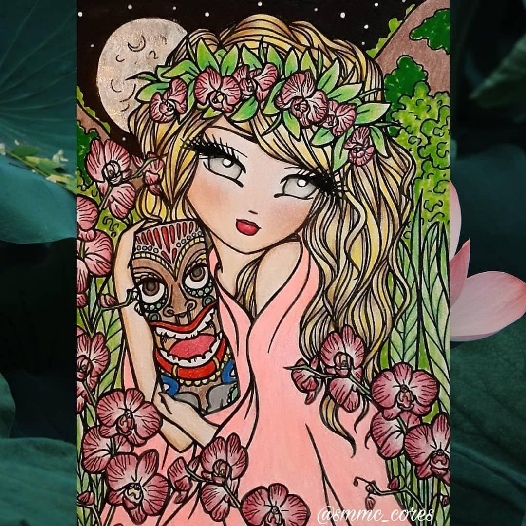 Mais Um Colorindo Com As Amigas Hannahlynart Hannahlynn Hannahlynncoloringbook Mauimermaidsandislandwhimsygirls Adultcoloring