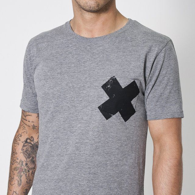 X Pocket T-Shirt by Wasted Heroes. Cool how to X is not perfectly on the pocket.