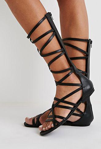5f3791966ab7 Strappy Mid-Calf Gladiator Sandals