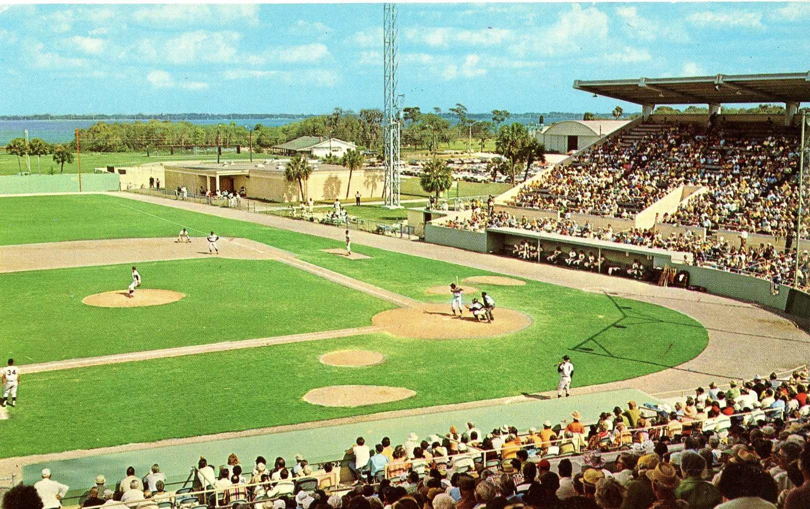 Joker Marchant Stadium spring training for Detroti Tigers Lakeland Florida. Hagins collection.