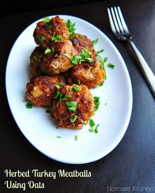 herbed turkey meatballs using oats recipe by nomsies kitchen maypurr