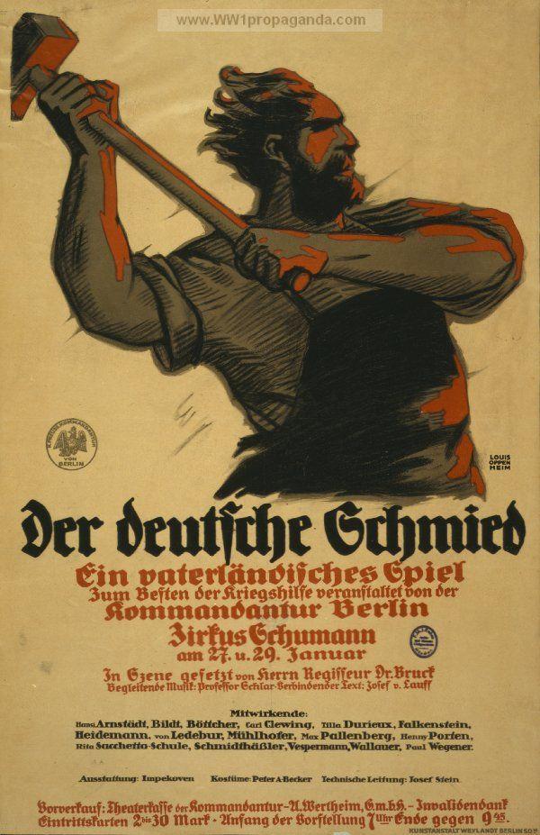 Examples of Propaganda from WW1   German WW1 Propaganda ...