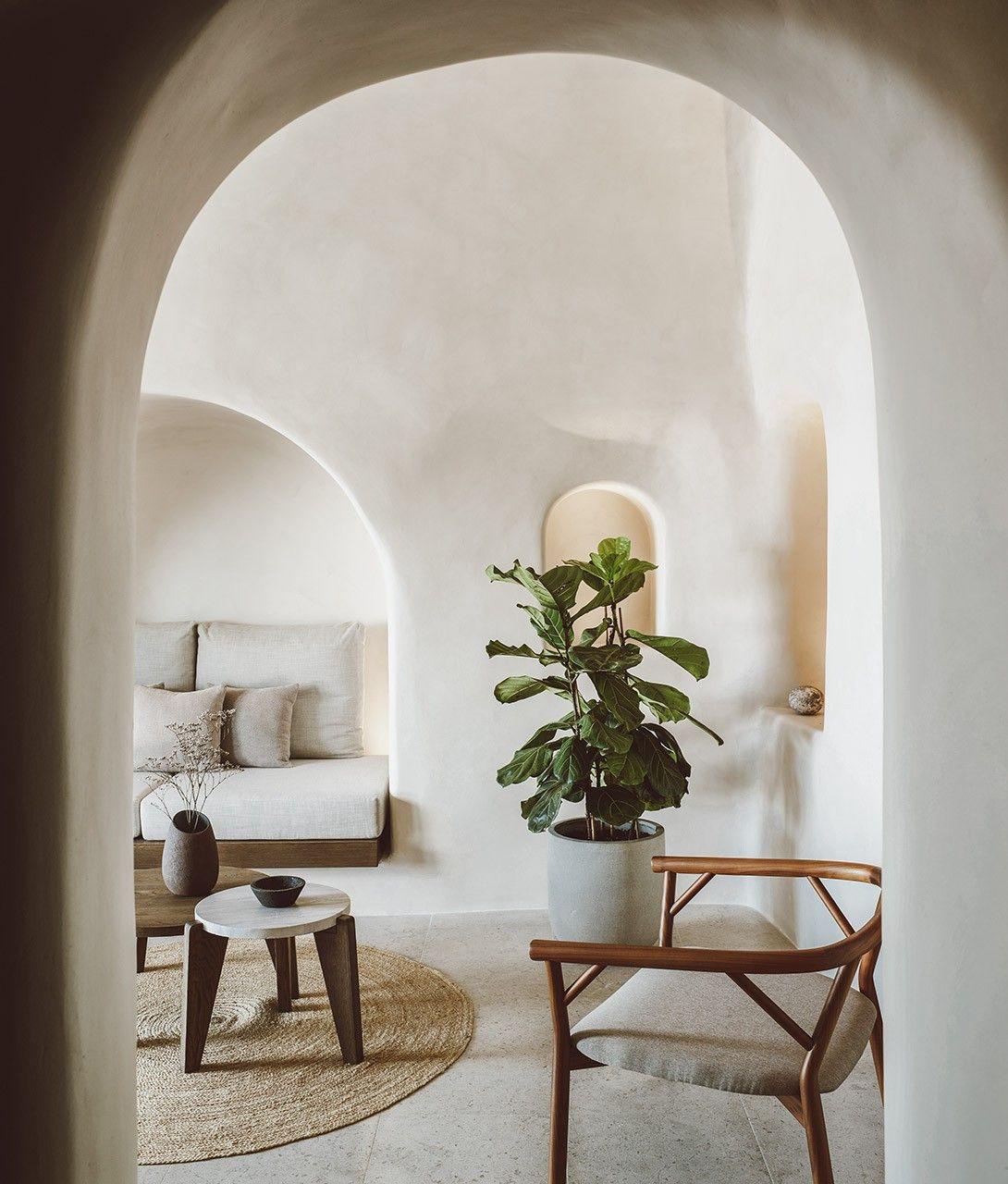 Furniture Interior Design Vora Santorini In Santorini Greece Modern Houses Interior Hotel Room Design Santorini House