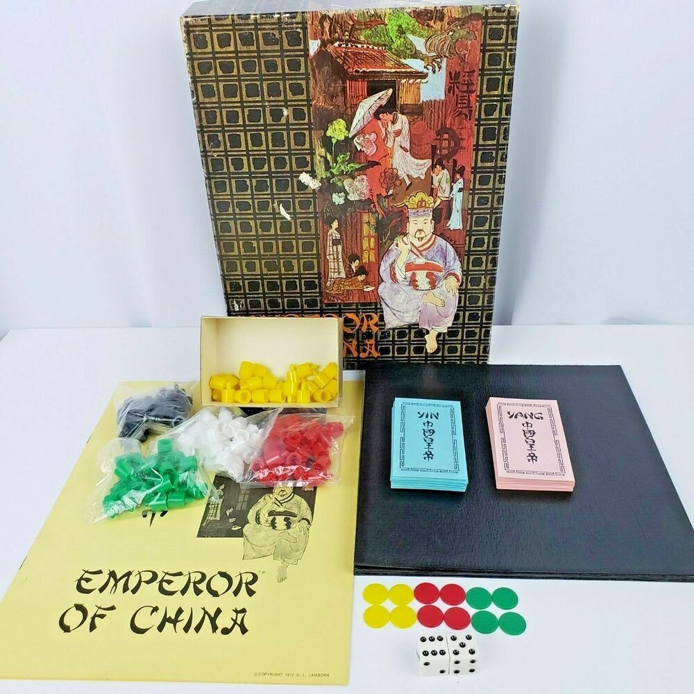 Emperor of China Strategy Board Game Dynamic Games Vintage