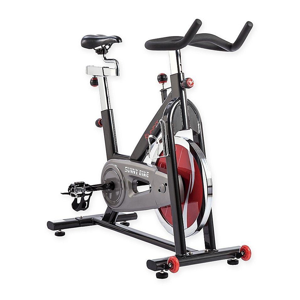 Sunny Health Fitness Chain Drive Indoor Cycling Bike Grey