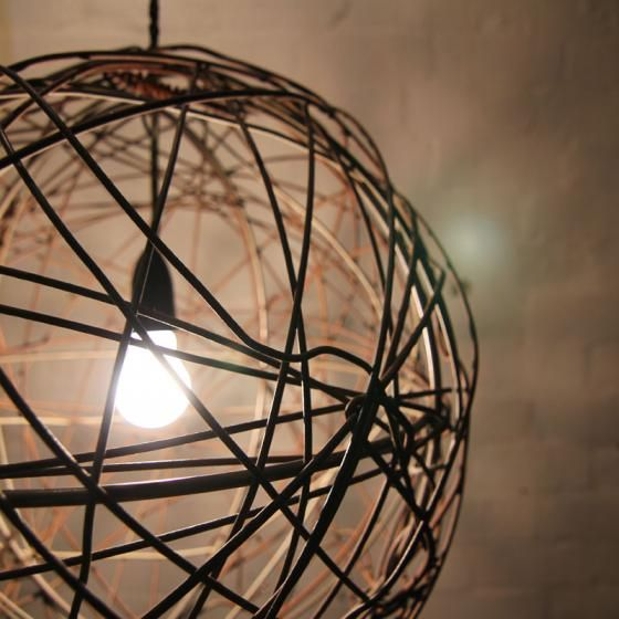 Recycled wire light fitting - straight from the farm. | Highett ...
