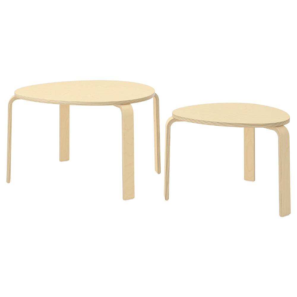 Svalsta Nesting Tables Set Of 2 Birch Veneer Ikea In 2021 Nesting Tables Ikea Wood Veneer [ 1000 x 1000 Pixel ]
