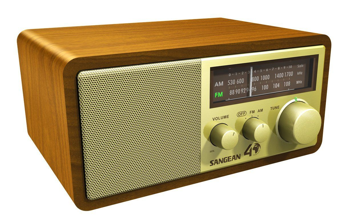 Certified Refurbished Sangean WR-50P FM-RBDS//AM//Bluetooth Wood Cabinet Table Top Stereo Digital Receiver System
