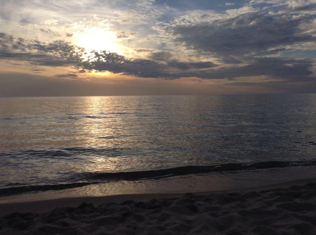 Sunset at tirrenia bagno mary tuscany italy a dream came