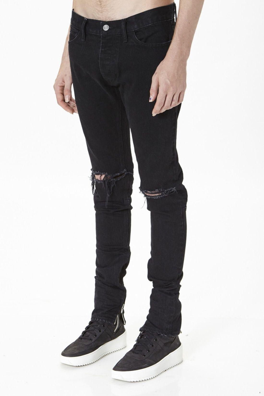 Fear Of God Black Selvedge Denim Size 32 650 Black Selvedge Denim Black Jeans