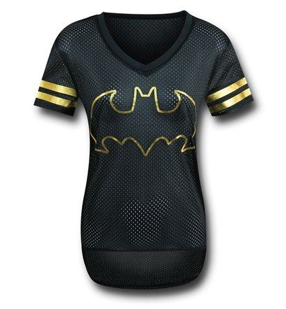 Make sure you are the first one picked on the team with the 100% polyester Batman Black Hockey Women's T-Shirt! Everybody wants Batman on their team....even aliens so you can ride that wave to the Halls of Valhalla, where you shall ride eternal and chrome! See? You can use the mesh Batman Black Hockey Women's T-Shirt to even survive in the post-apocalyptic Australian outback! Say hi to Tom Hardy/Mel Gibson for me.
