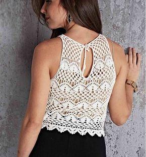 83a758e53 Blusa tejida a crochet patrones gratis | noe | Blusas tejidas ...