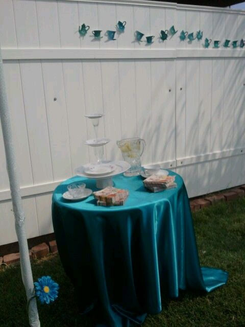 water and cookie station