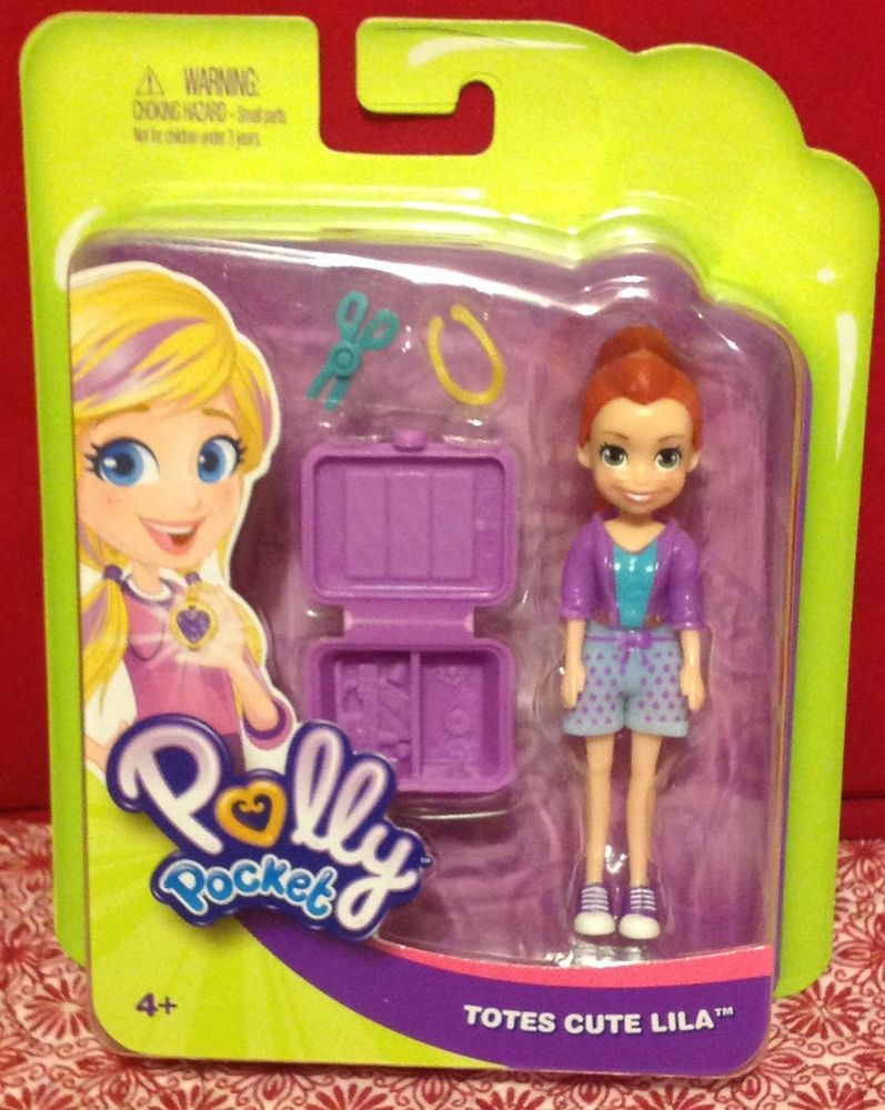 Polly Pocket Totes Cute Lila Doll Outfit Accessories 4