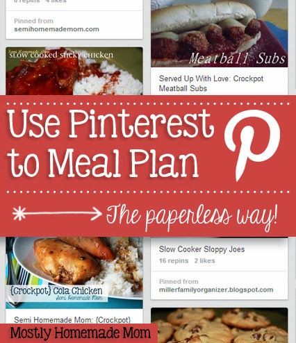 how to use pinterest to meal plan the paperless way meals