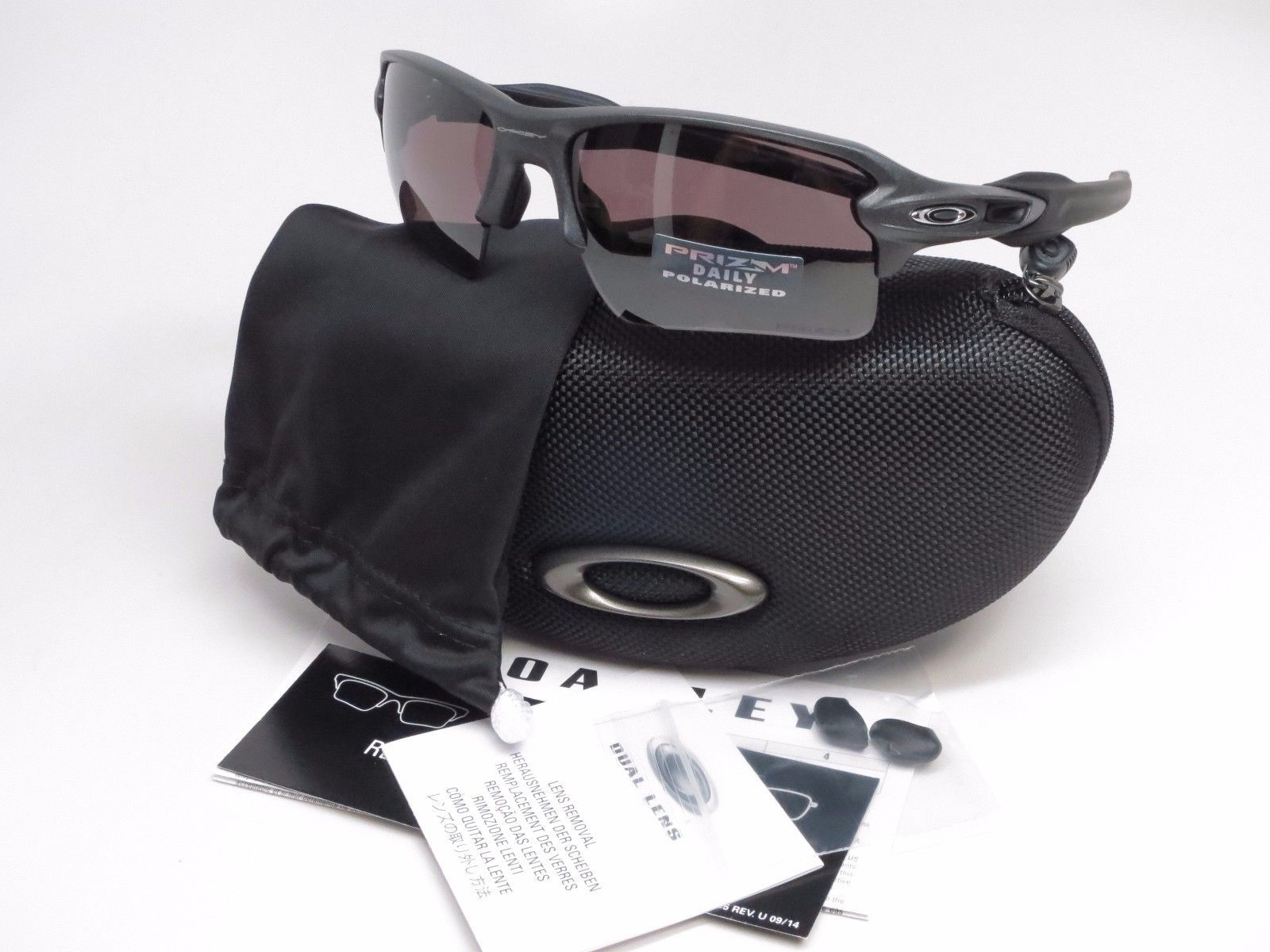 Oakley Flak 2.0 XL OO9188-60 Steel w/Prizm Daily Polarized Sunglasses
