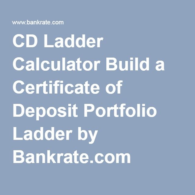 CD Ladder Calculator Build a Certificate of Deposit Portfolio Ladder ...