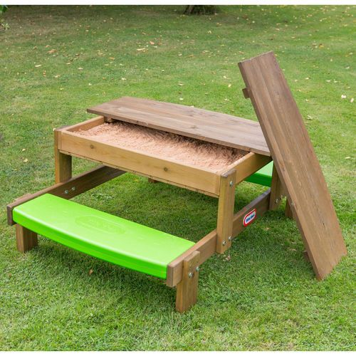 Little Tikes 2 In 1 Wooden Sand And Picnic Table