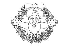 Malvorlage Tannenbaum Und Santa Claus Mit Schriftzug Merry