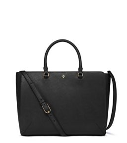 9cfb1086ea41 Black Tory Burch Robinson Large Zip Tote | Accessorize me! | Tory ...