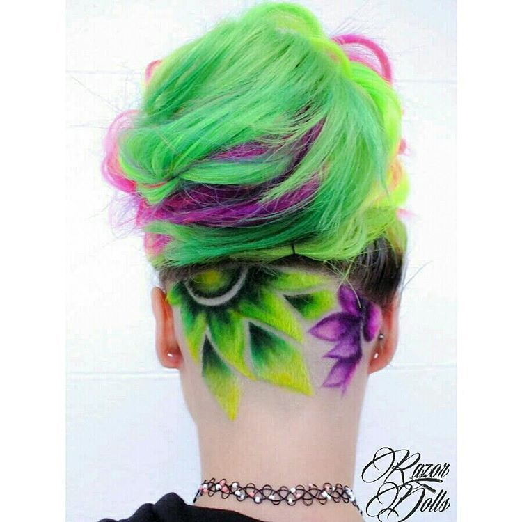 undercut #color #designs in 2019 | Hair styles, Shaved hair ...