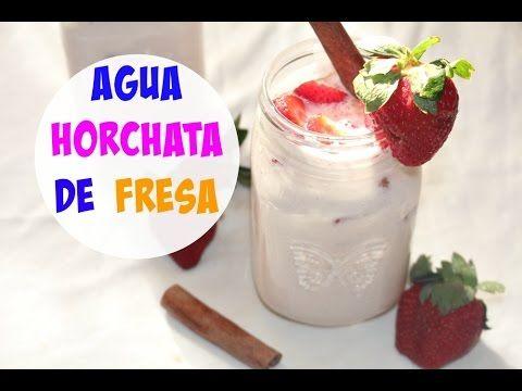 Agua de horchata con fresa   Cocinando con Ros Emely