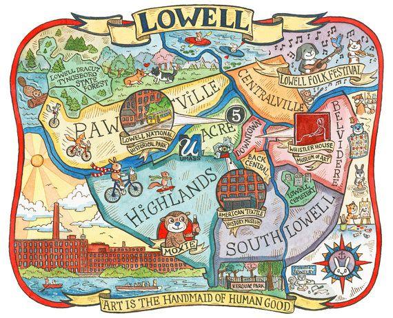 Lowell Machusetts Neighborhood Map 8