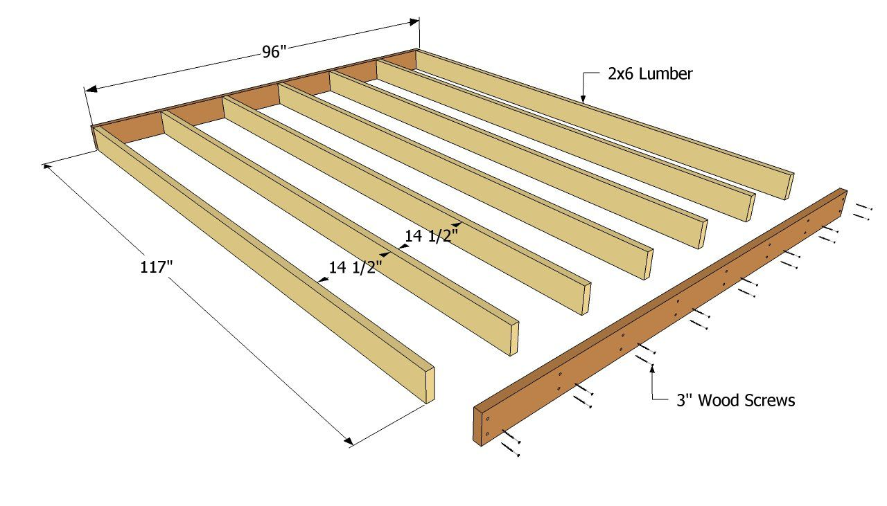 10 Pics Review Garden Shed Floor Design And Description In 2020 Shed Floor Plans Shed Floor Shed Storage