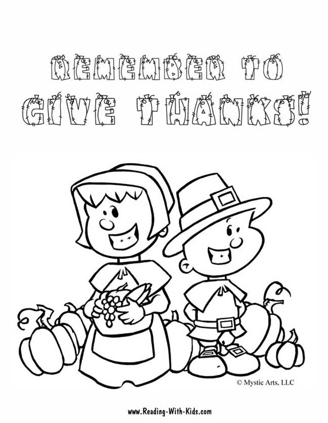 Holidays Thanksgiving Coloring Pages