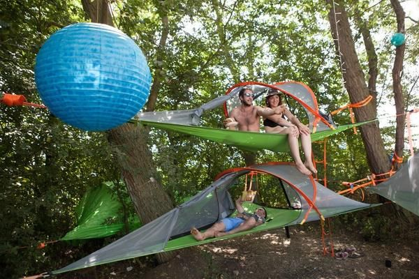 If you combined a hammock a tent and a treehouse youu0027d get a Tentsile Tent. Trained architect Alex Shirley-Smith teamed up with product designer and ... & Tentsile CONNECT Hammock Tree Tent The Tentsile Connect is a ...