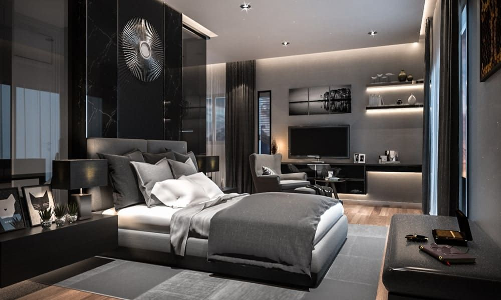 41 Black Primary Bedroom Ideas Photos Luxury Bedroom Master Luxurious Bedrooms Modern Luxury Bedroom Modern bedroom interior design images