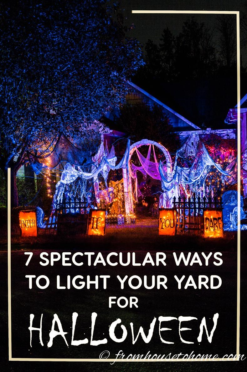 Halloween Lighting Tips Forum These Halloween Outdoor Lighting Tips Are Awesome Im Definitely Going To Have The Best Front Yard Decorations In The Neighborhood Using These Ideas Pinterest Halloween Outdoor Lighting Spooky Ways To Light Your Yard