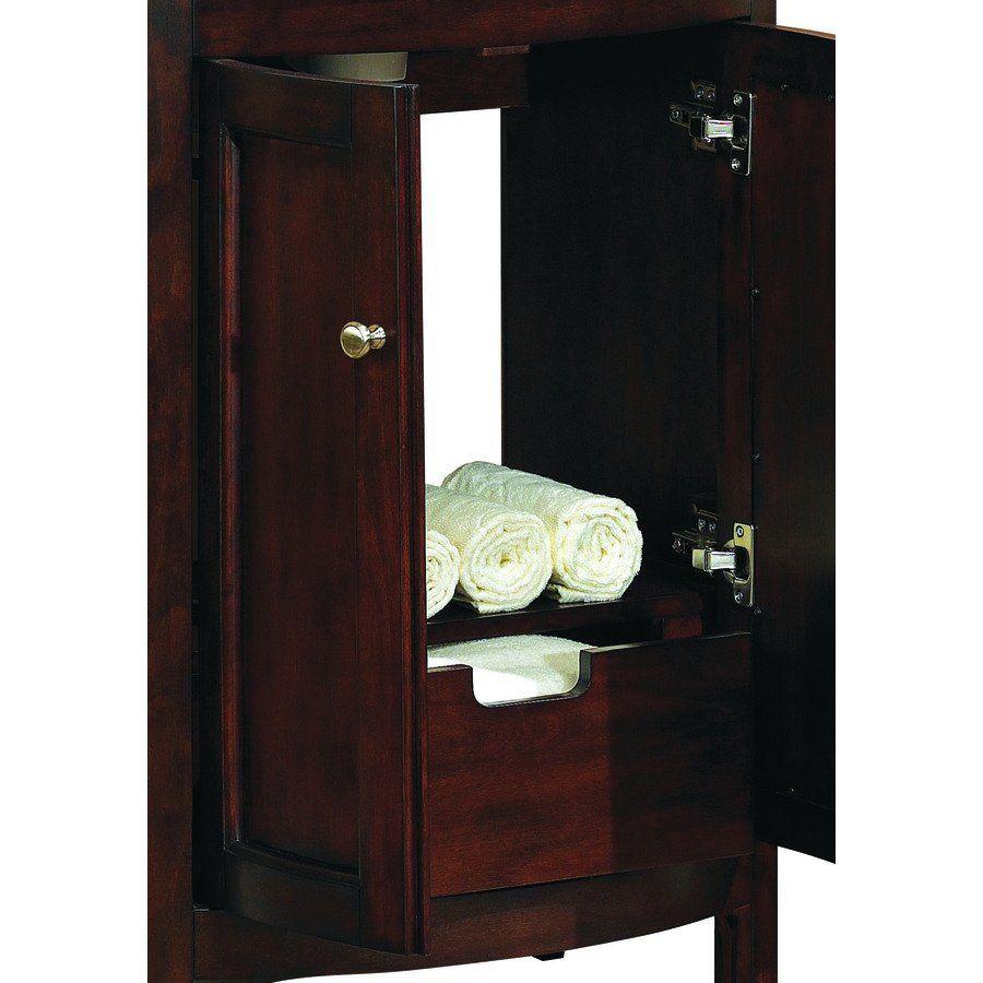 Allen Roth Bathroom Vanity allen + roth 69187 moravia sable integral bathroom vanity with