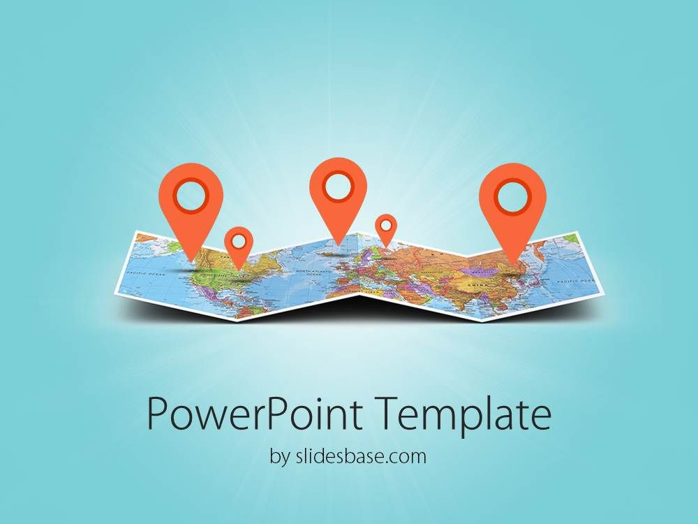 3d folded map travel business world map markers pin location travel 3d folded map travel business world map markers pin location travel tourism powerpoint template 1 toneelgroepblik Choice Image