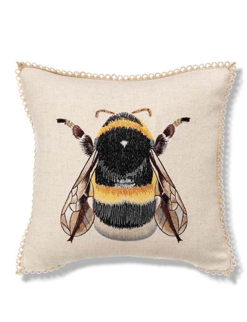 Bumblebee Embroidered Cushion ♡ | Wish List | Pinterest | Libélulas ...