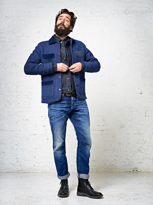 e60901360c367 Scotch   Soda Indigo Workwear Jacket   Men of Ilk Styles Urbains, Denim  Jeans,