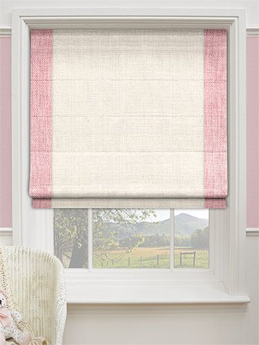 Freya Purity Pink Roman Blind From Blinds 2go