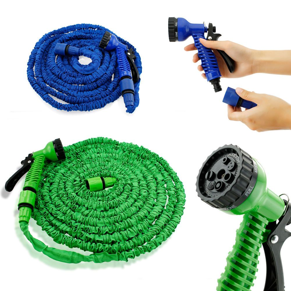 Deluxe 25 50 75 100 Feet Expandable Flexible Garden Water Hose W Spray Nozzle Great Quality Us Seller Best Gift Water Hose Water Garden Garden Hose Reel