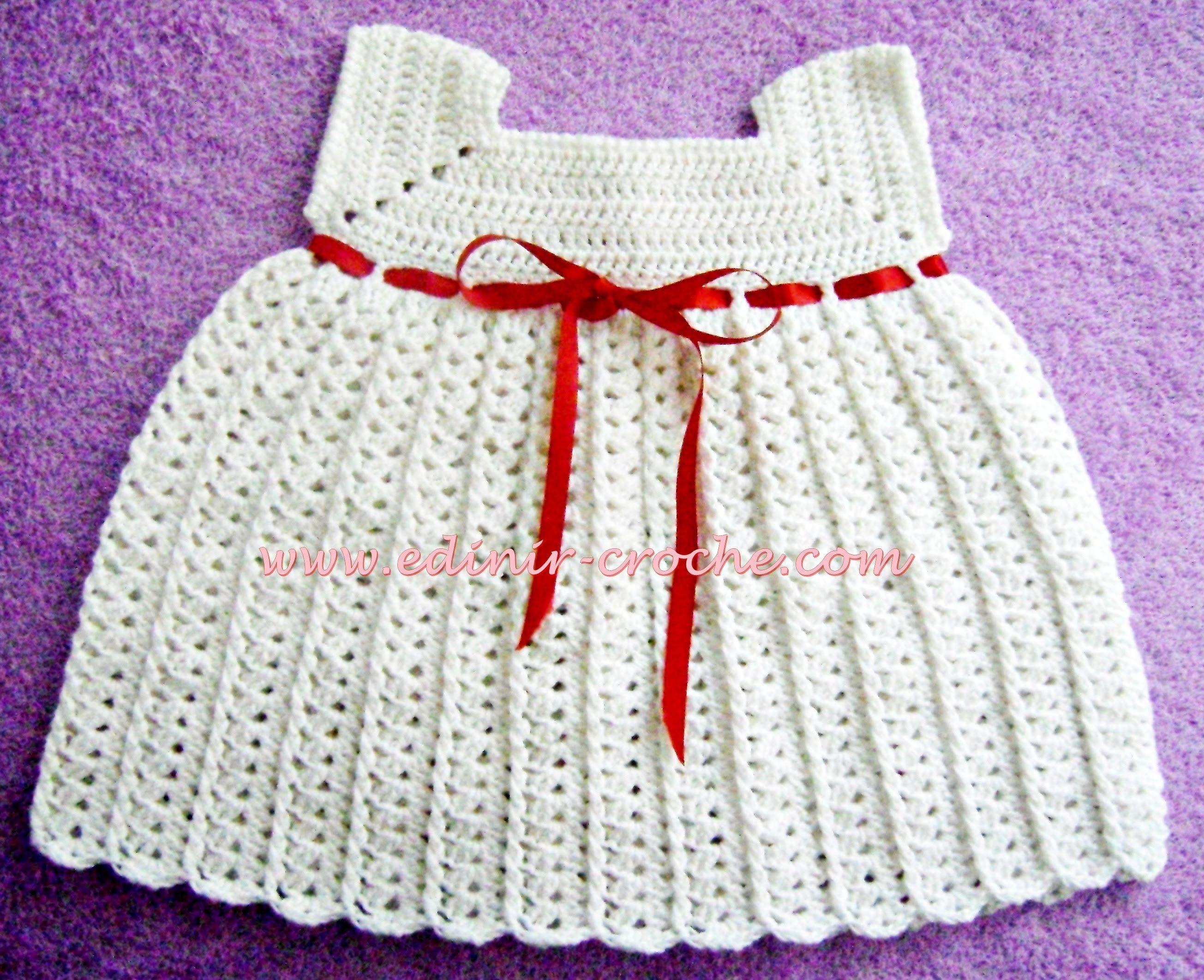 CROCHÊ - VESTIDO BRANCO PARTE 1 | Tejidos | Pinterest | Crochet ...