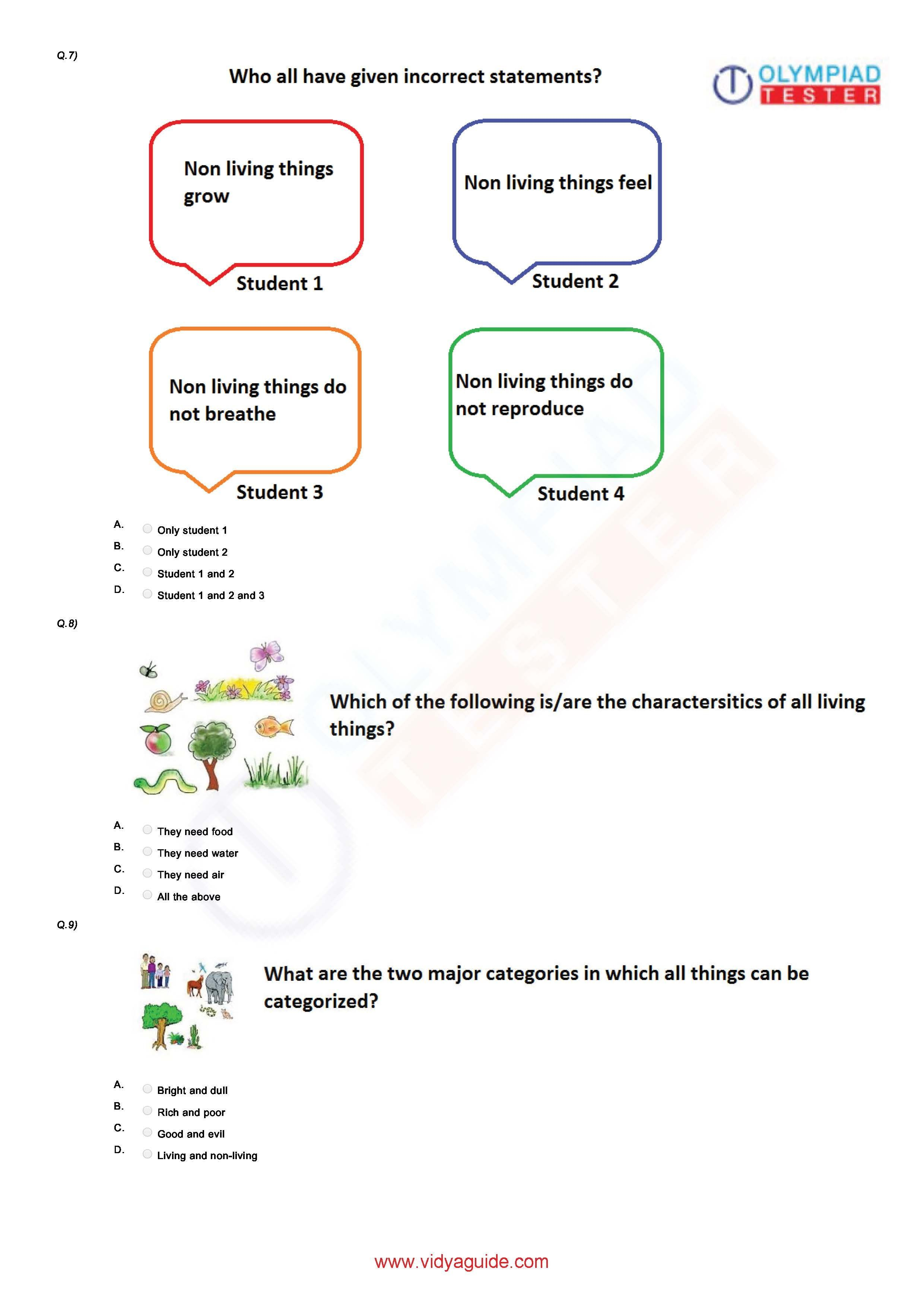 Download Free Grade 1 Science printable Worksheets or take ...