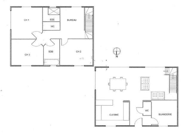 plan maison en L projet maison plan Pinterest House - plan maison 110m2 etage