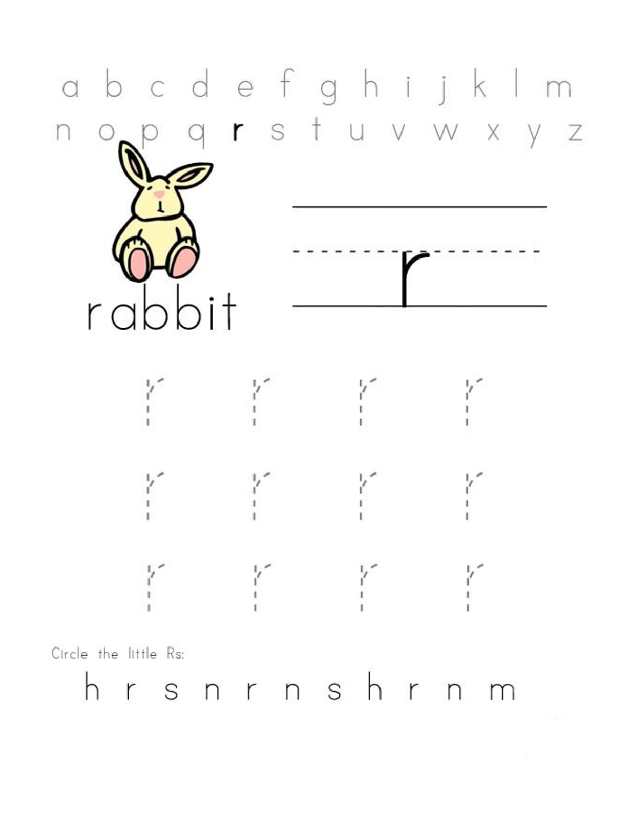 Free Letter R Worksheets For Preschool Letter R Worksheets Free
