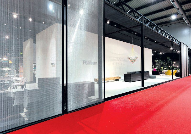Expanded Metal And Wire Mesh Used In Interior Design As Metal Furniture,  Lightning Shields,