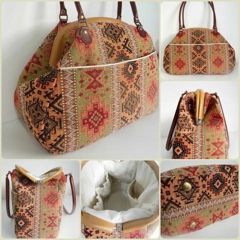 Internal Tubular Bag Frame Large 12 Companion Carpet Bag Carpet Bag Carpet Bag Purse