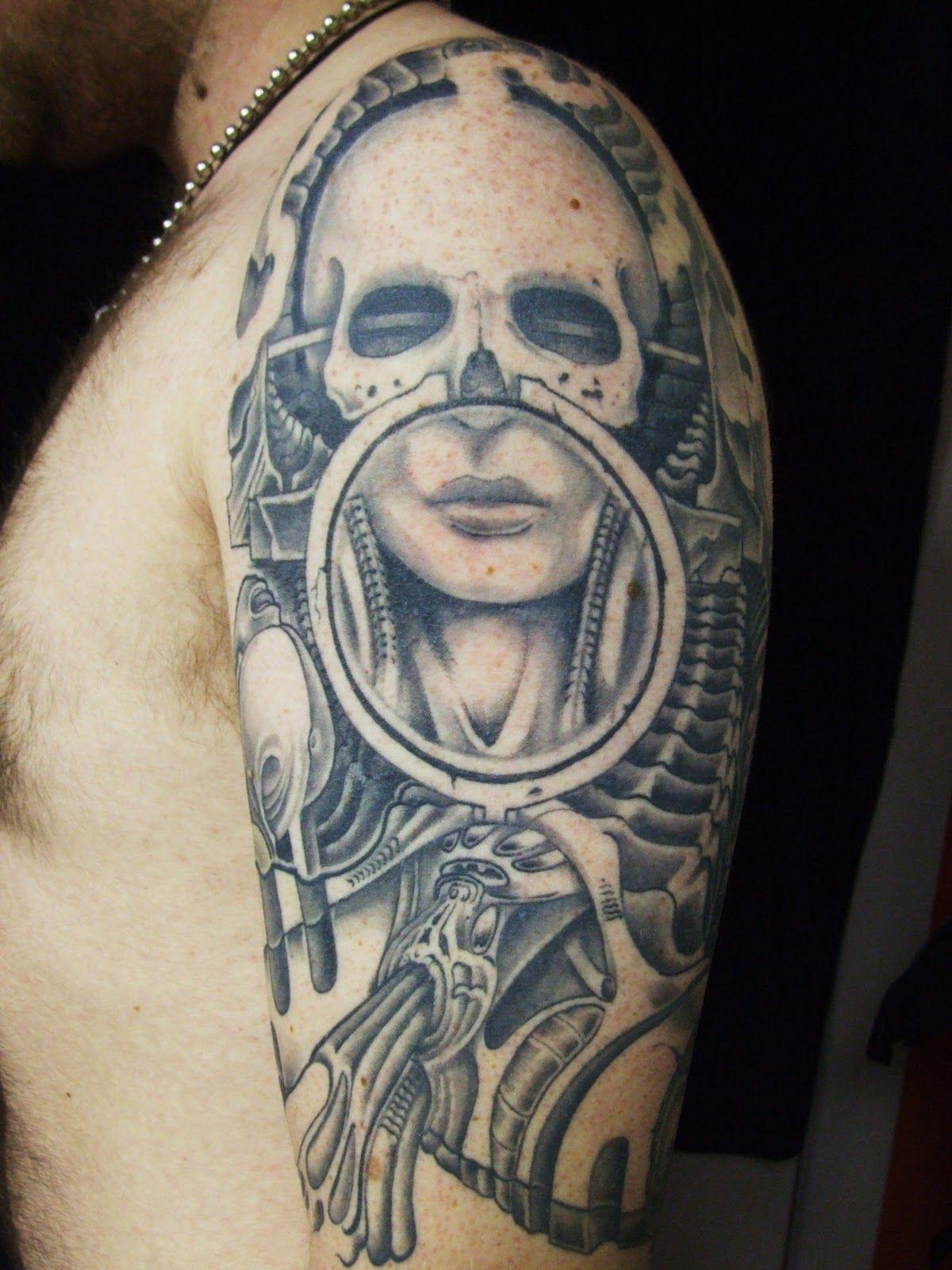 Hr giger tattoo designs - Giger Alien Tattoo Designs