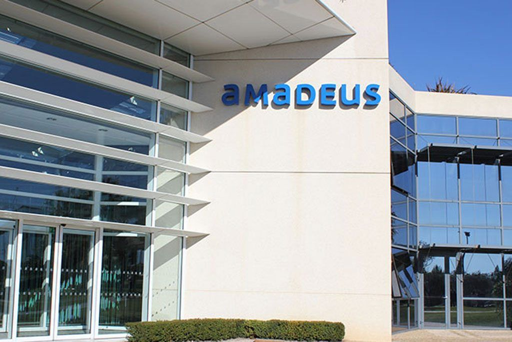 Amadeus Revs Up Spending For Product Development The Entrance To An Office Of Travel Technology Company Amadeus The Travel Technology Hotel Services Tourism