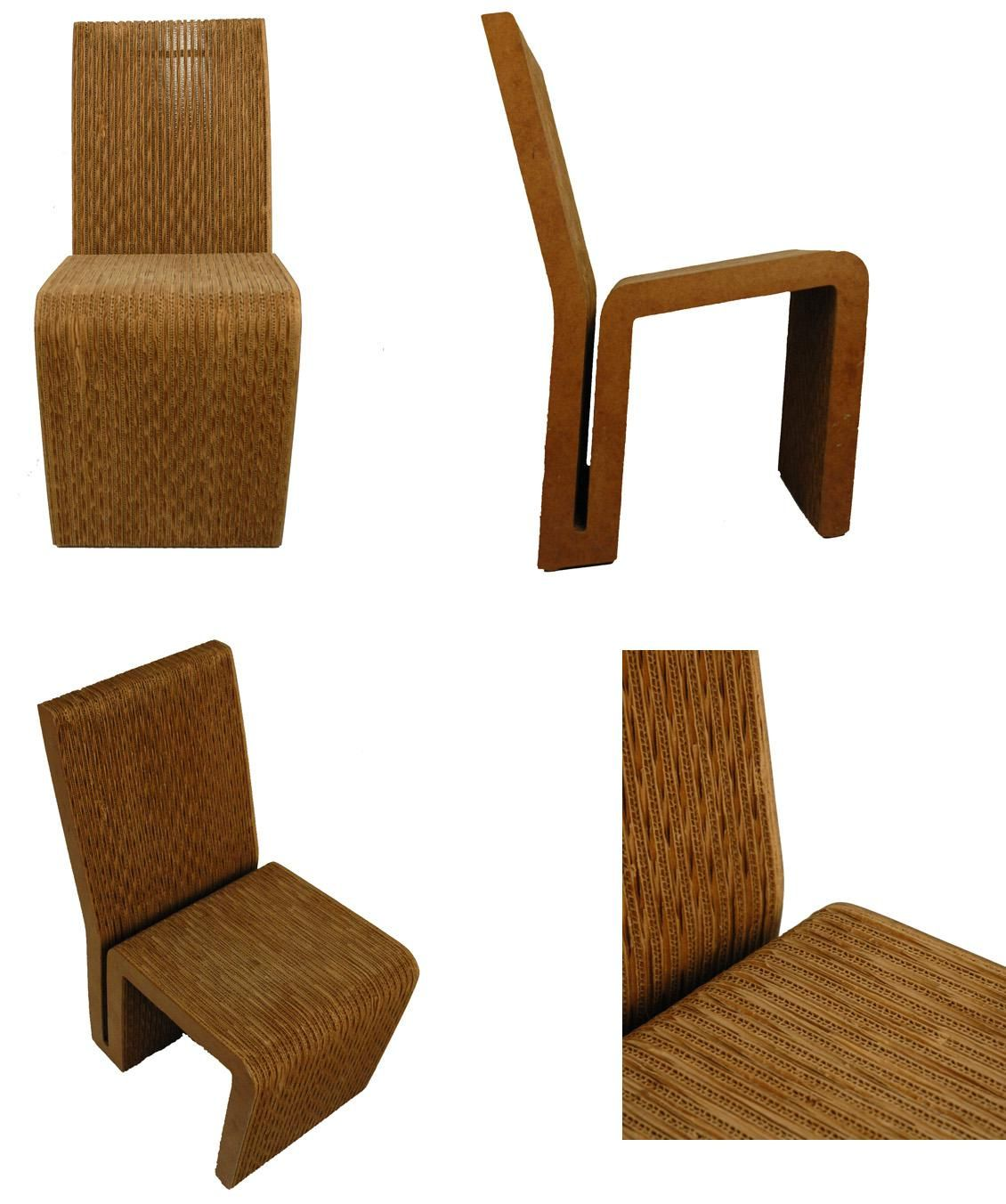 Chair Side Frank Gehry Easy Edges Frank Gehry Pinterest  # Frank Gehry Muebles De Carton
