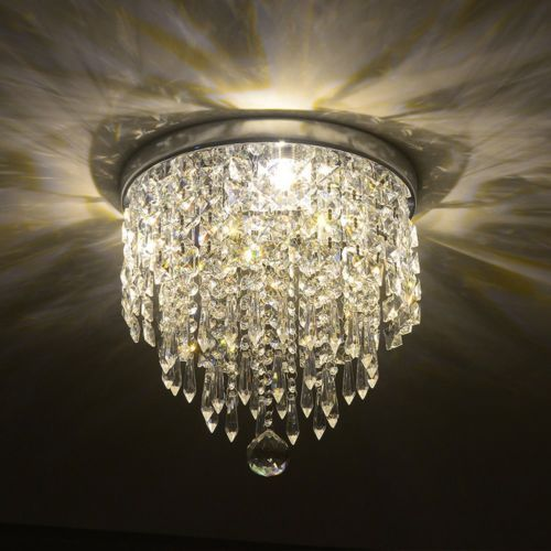 Elegant Chandelier Crystal Light Ceiling Flush Mount Lamp Modern Fixture Chrome 45 Closet With Images Pendant Ceiling Lamp Ceiling Lamp Ceiling Chandelier
